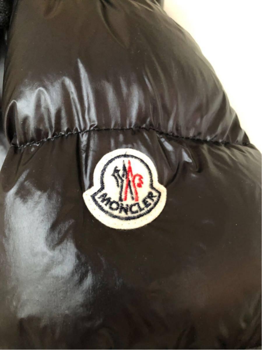 本物 モンクレール MONCLER ジャケット ダウンジャケット サイズ3 黒 メンズ ダブルジップアップ MARQUE 国内正規品_画像5
