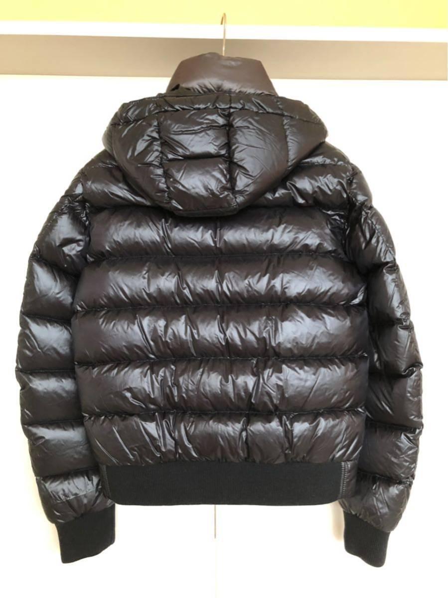 本物 モンクレール MONCLER ジャケット ダウンジャケット サイズ3 黒 メンズ ダブルジップアップ MARQUE 国内正規品_画像7