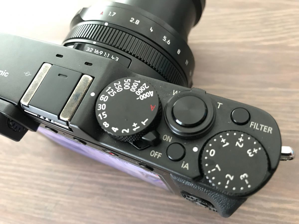 パナソニック Panasonic ルミックス LX100 ブラック DMC-LX100-K 付属品完備(中古品美品)_画像6