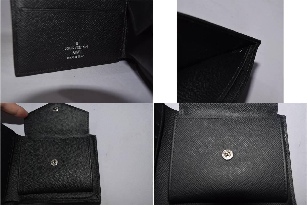 84_O992)LOUIS VUITTON ルイ・ヴィトン N63336 ダミエ・グラフィット ポルトフォイユマルコ 二つ折り 財布_画像8