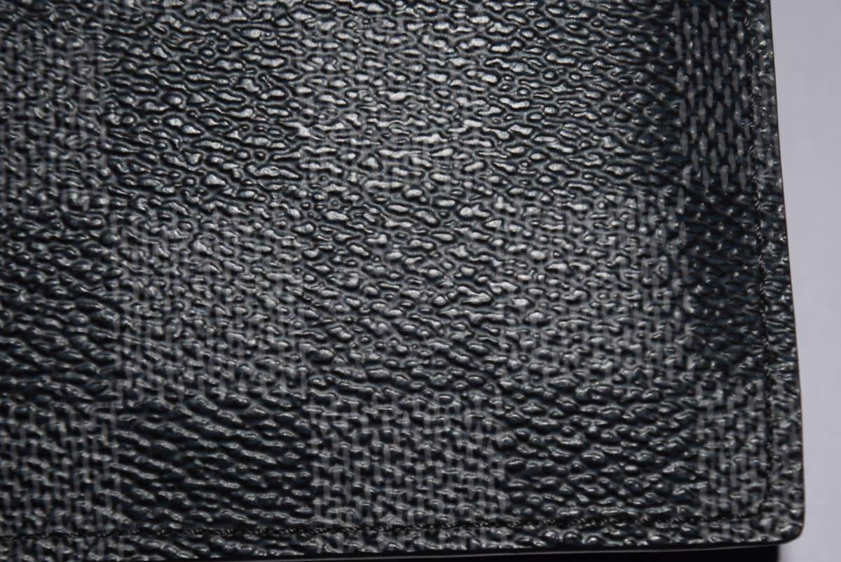 84_O992)LOUIS VUITTON ルイ・ヴィトン N63336 ダミエ・グラフィット ポルトフォイユマルコ 二つ折り 財布_画像4