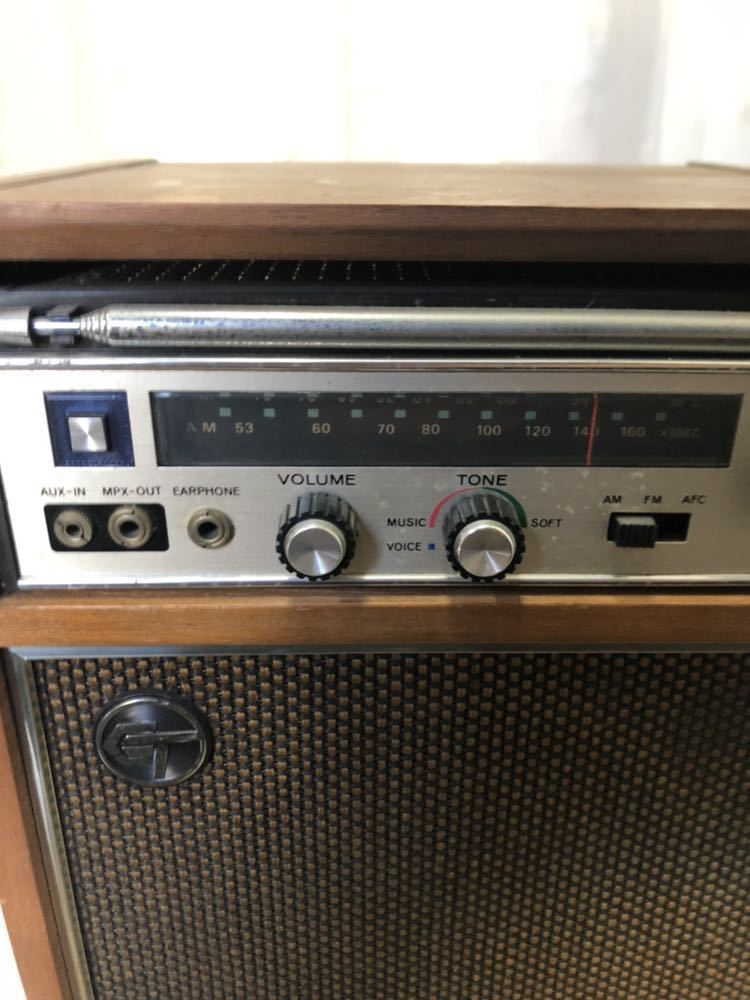 K417-5 【ジャンク】東芝 トランジスターラジオ 11M-885F GTダブル スピーカー TSS-885 AC-885 _画像2