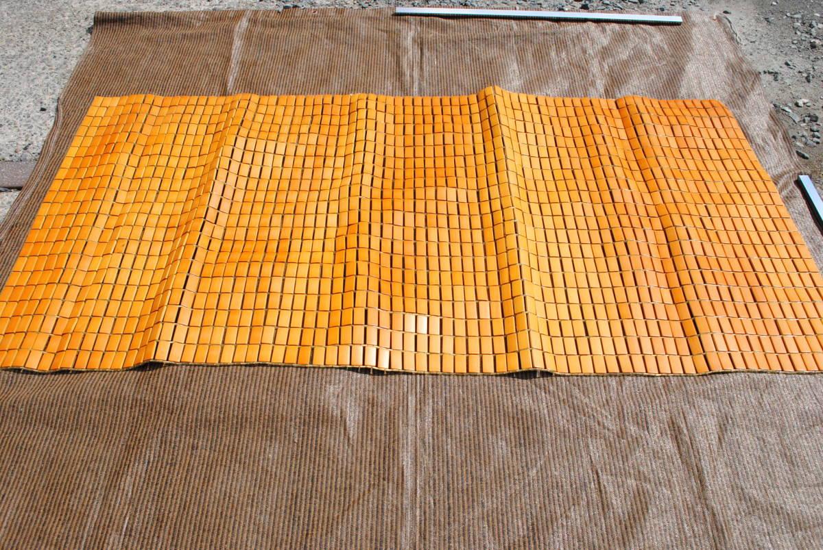 D138 竹シーツ 竹ラグ マット 90×168cm 暑さ対策 冷却マット 竹敷きパッド 寝具 ひんやり 竹駒 シングルベッド ① 送料無料_画像1