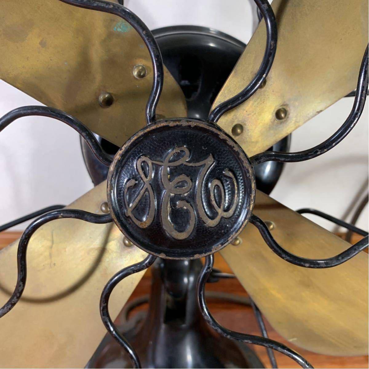 芝浦 扇風機 真鍮 4枚羽 レトロ アンティーク 浪漫 昭和 _画像4