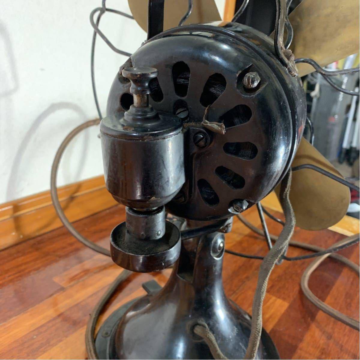 芝浦 扇風機 真鍮 4枚羽 レトロ アンティーク 浪漫 昭和 _画像6