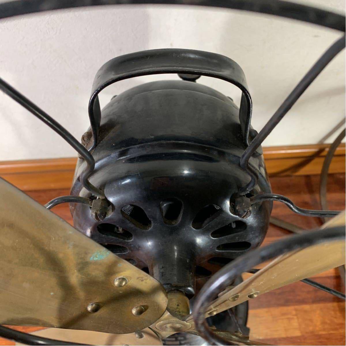 芝浦 扇風機 真鍮 4枚羽 レトロ アンティーク 浪漫 昭和 _画像5