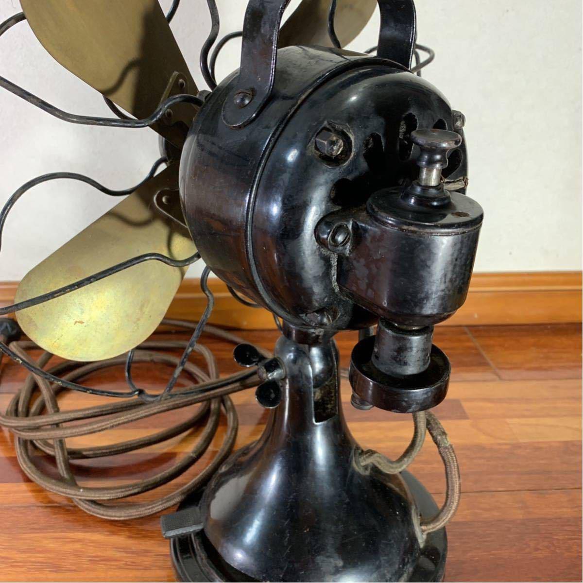芝浦 扇風機 真鍮 4枚羽 レトロ アンティーク 浪漫 昭和 _画像9