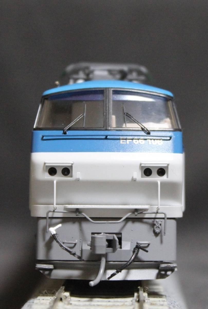 《走行僅少・美品》 TOMIX  HO-137  JR EF66-100形電気機関車(前期型) パンタ塗装 手すり・ステップ・手掛け金属製_画像4