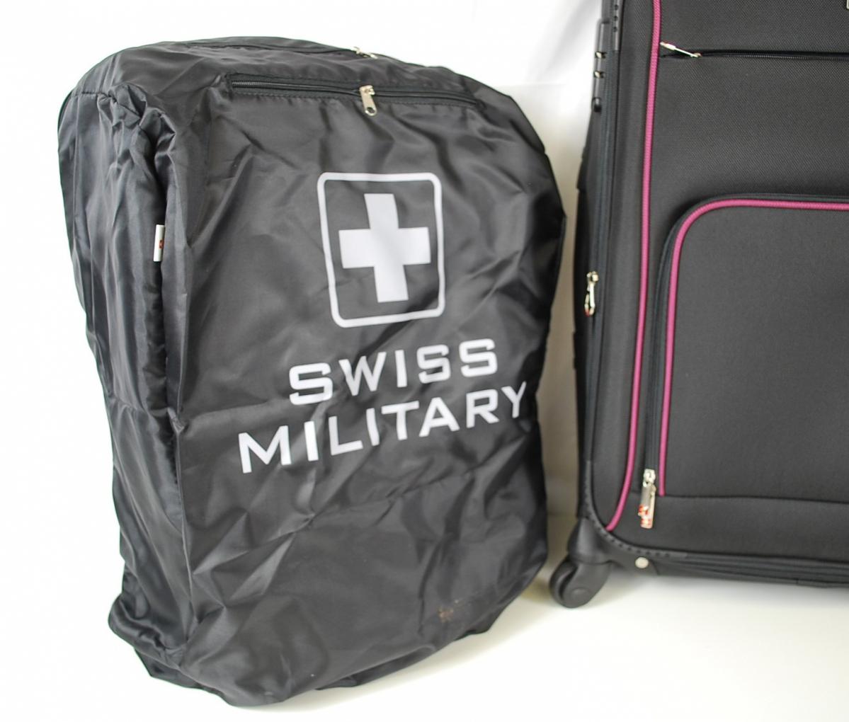 72PGN 【美品】 SWISS MILITARY スイスミリタリー スーツケース 5点セット ボストンバック パスポートバッグ ケースカバー ポリエステル_画像7