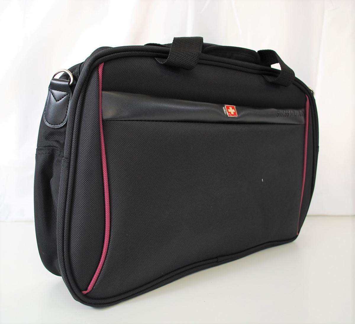72PGN 【美品】 SWISS MILITARY スイスミリタリー スーツケース 5点セット ボストンバック パスポートバッグ ケースカバー ポリエステル_画像5