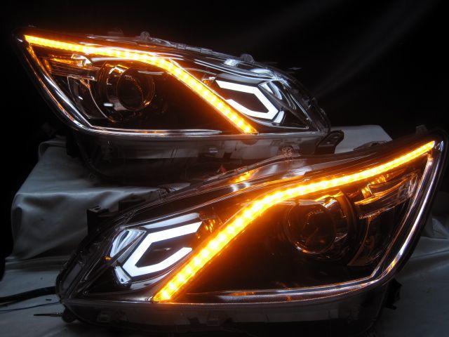 GRS210 クラウン アスリートG AWS210 シーケンシャルウインカー ヘッドライト 210_画像2
