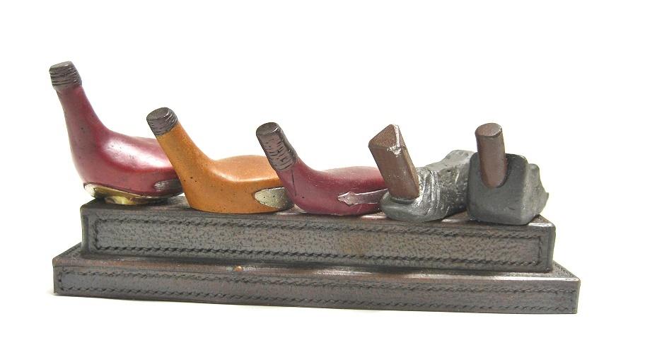 5 WOOD PEN STAND GOLF:ゴルフヘッド5個の飾りが付いたペンホルダー_画像7