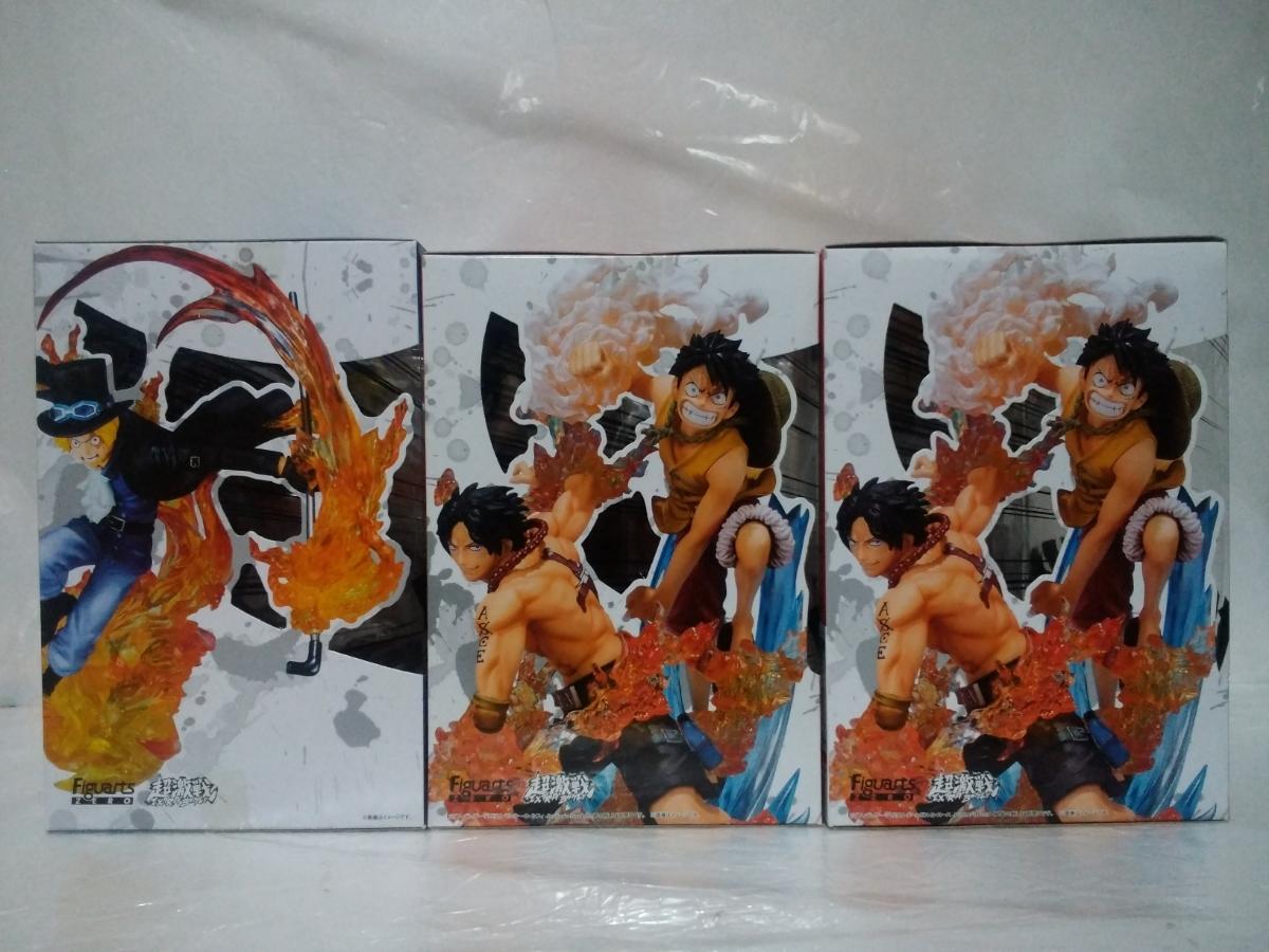 ワンピース Figuarts ZERO 火拳・兄弟の絆 サボ・ルフィ・エース 3点セット_画像3