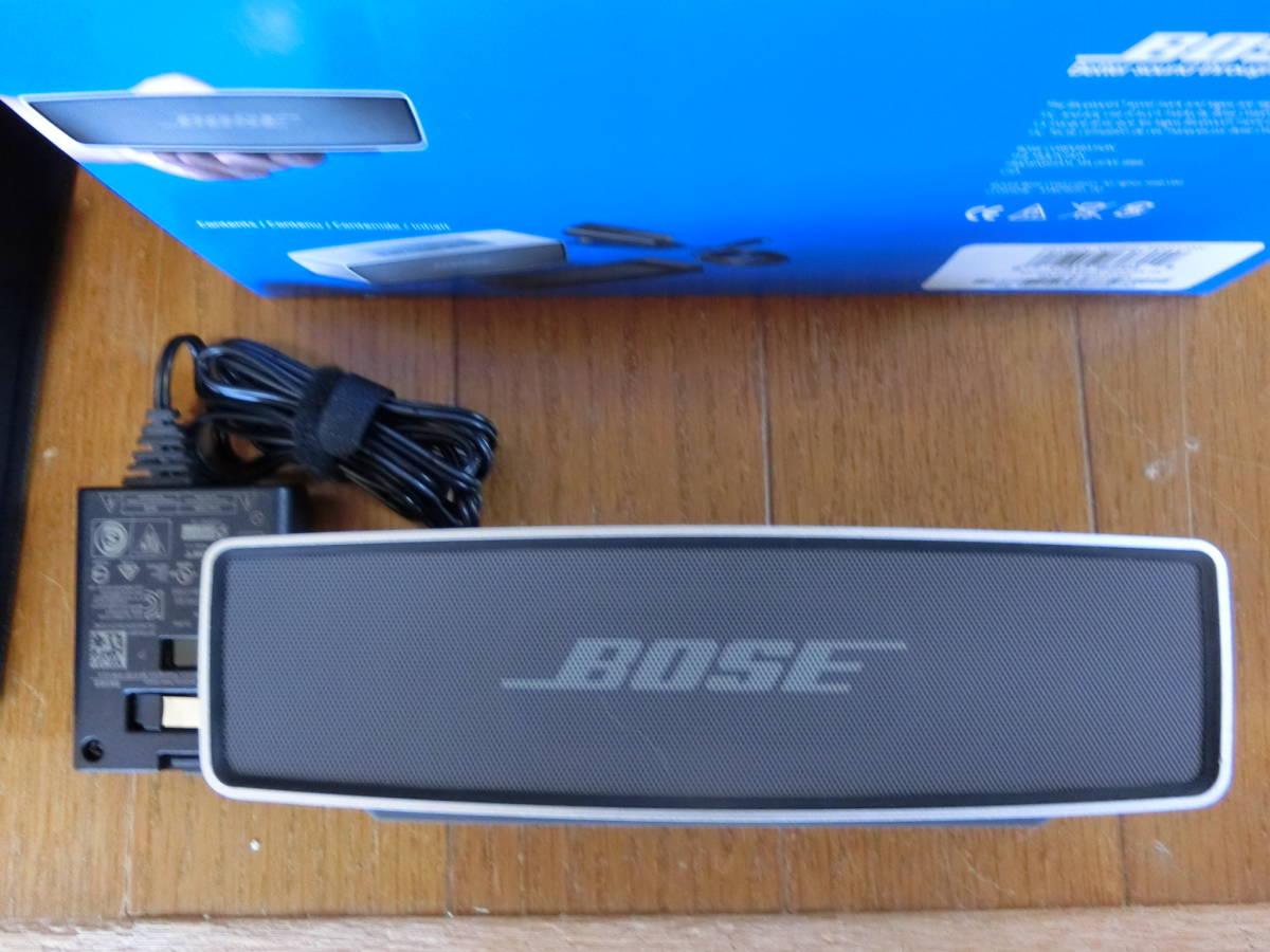 BOSE ボーズ Sound Link Mini サウンドリンク ミニ  Bluetooth スピーカー ポータブル ワイヤレス ブルートゥース 美中古品_画像2