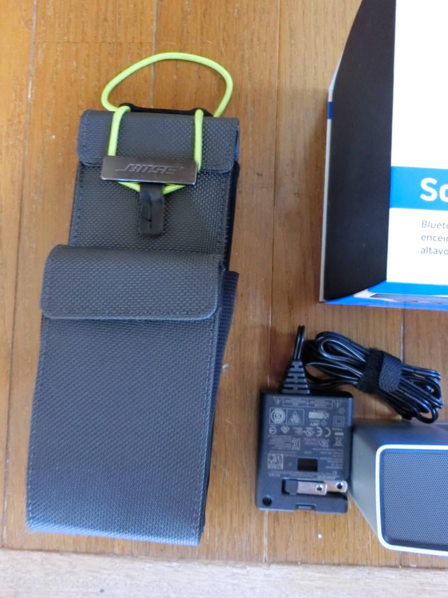 BOSE ボーズ Sound Link Mini サウンドリンク ミニ  Bluetooth スピーカー ポータブル ワイヤレス ブルートゥース 美中古品_画像3
