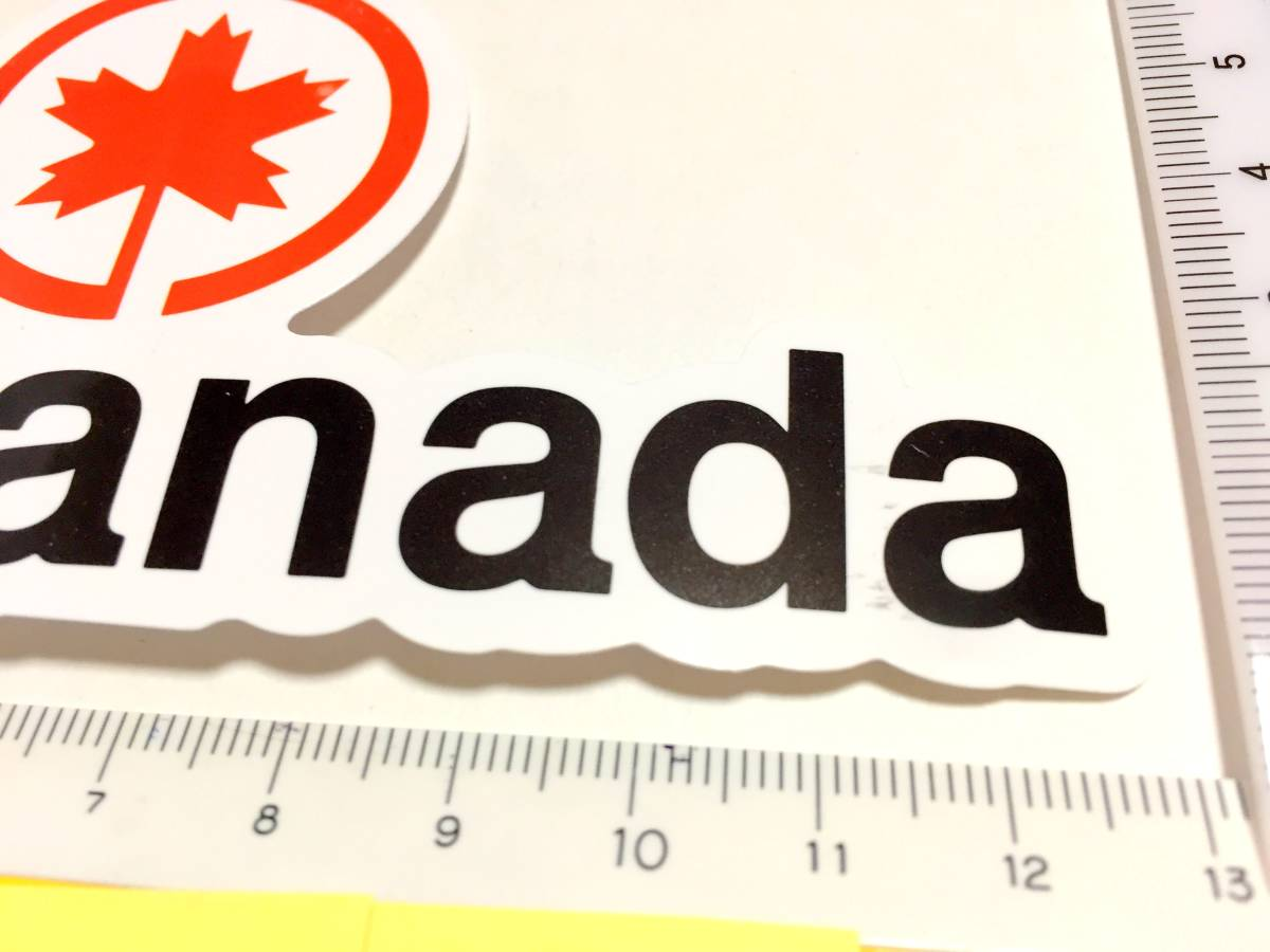 送料無料 #2 新品 Air Canada ステッカー 防水 エアカナダ シール 世界 エアライン 航空会社 ロゴマーク 即決 スーツケース_画像2