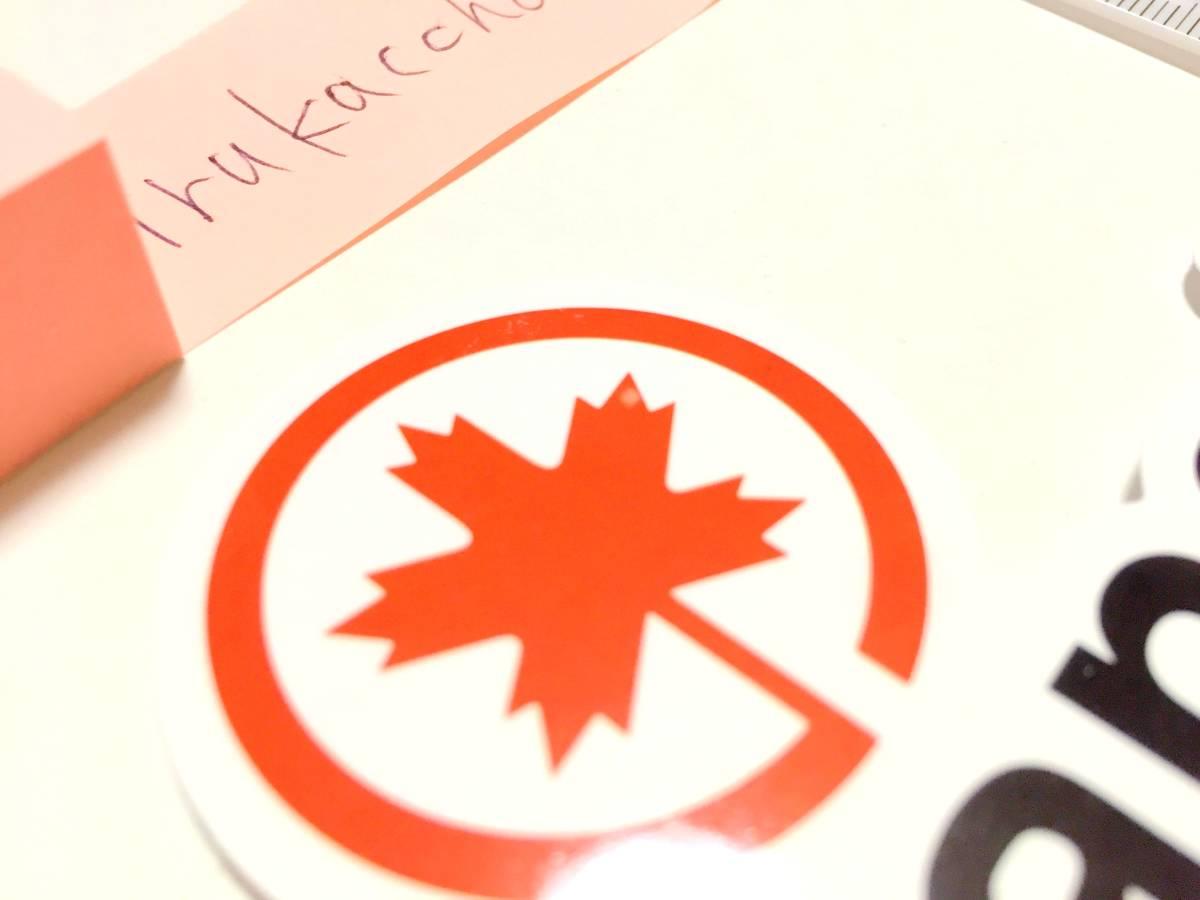 送料無料 #2 新品 Air Canada ステッカー 防水 エアカナダ シール 世界 エアライン 航空会社 ロゴマーク 即決 スーツケース_画像3