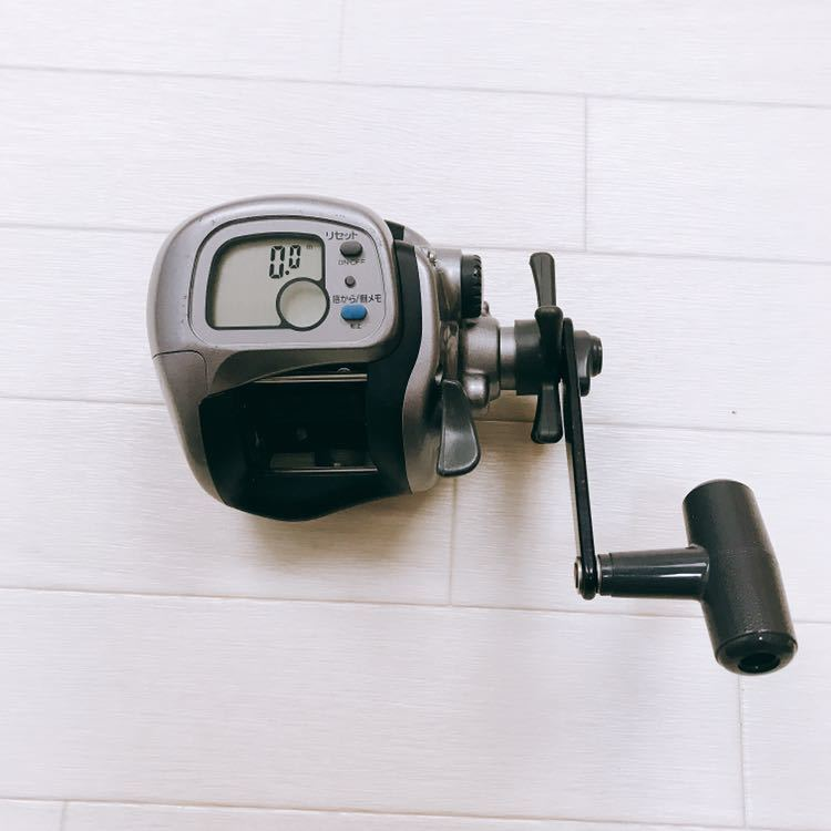 中古 1円スタート DAIWA ダイワ タナセンサーS 400DX デジタルカウンター付き両軸リール