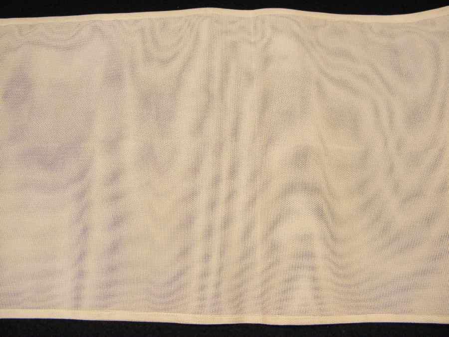 【帯喜楽】夏1●芯なし夏袋帯●三越製●薄ベージュ透かし織にピンク水色銀混じり流れ_画像8