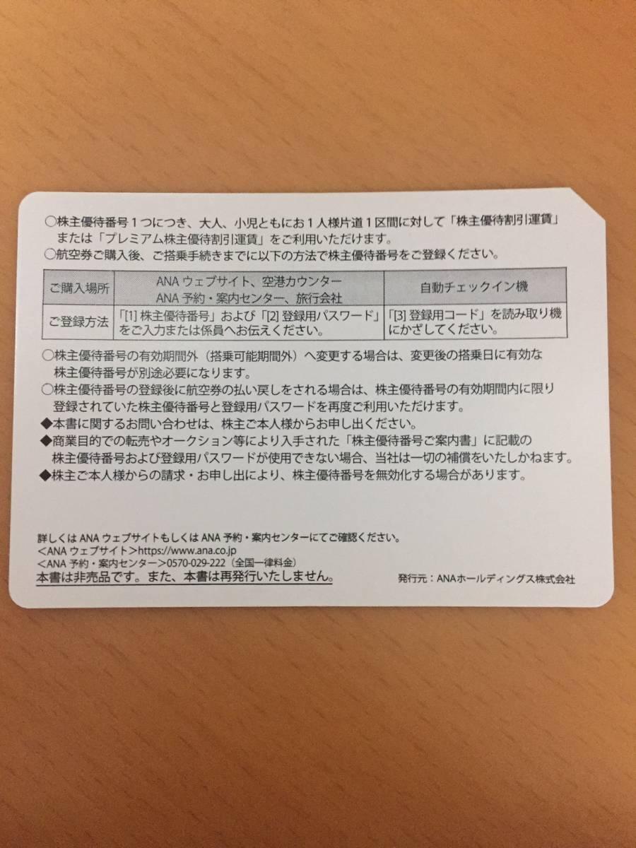 ANA株主優待券 2019年5月31日まで 2枚セット ①_画像2