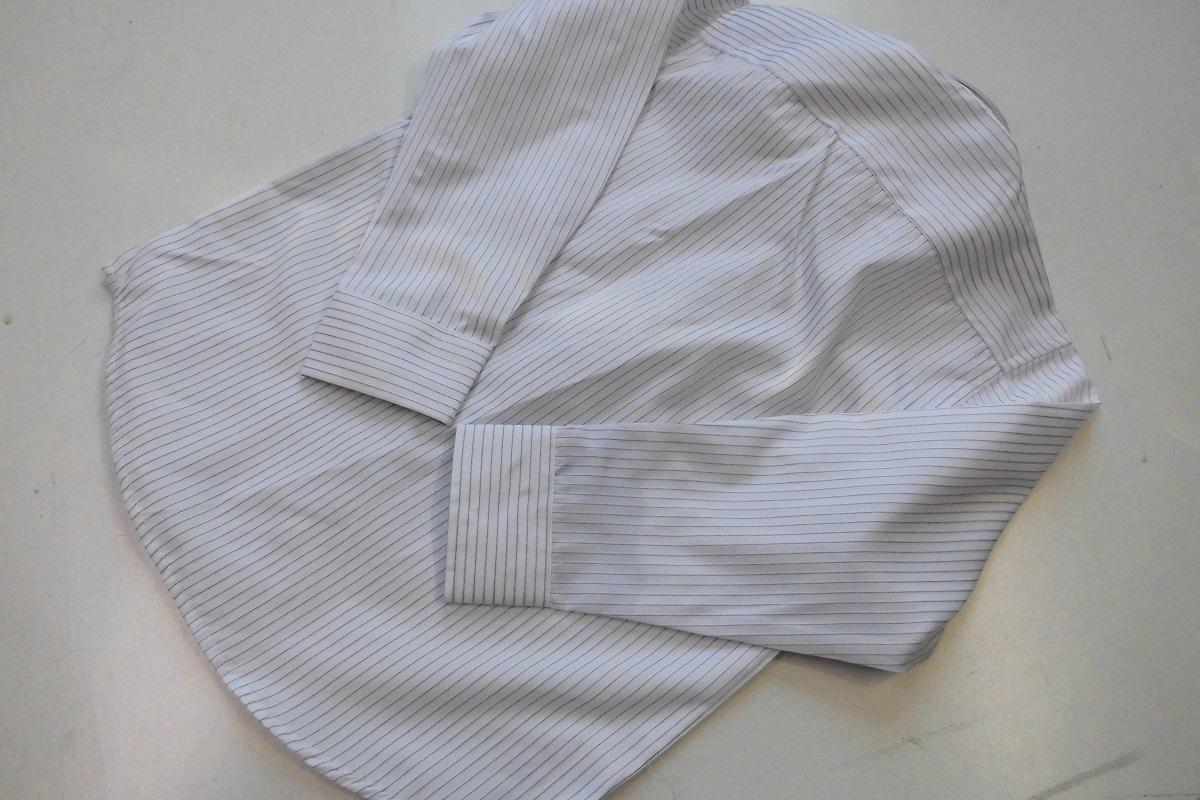 新品 120cm 送料182円 ネクタイ付シャツ 白地ストライプ tad36_画像4