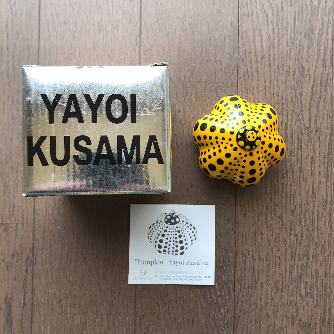 Yayoi Kusama 草間彌生 ペーパーウエイト 廃盤 pumpkin
