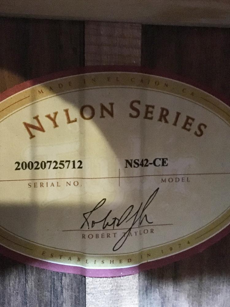 格安出品!Taylor テイラー NS42-CE ナイロン弦_画像5
