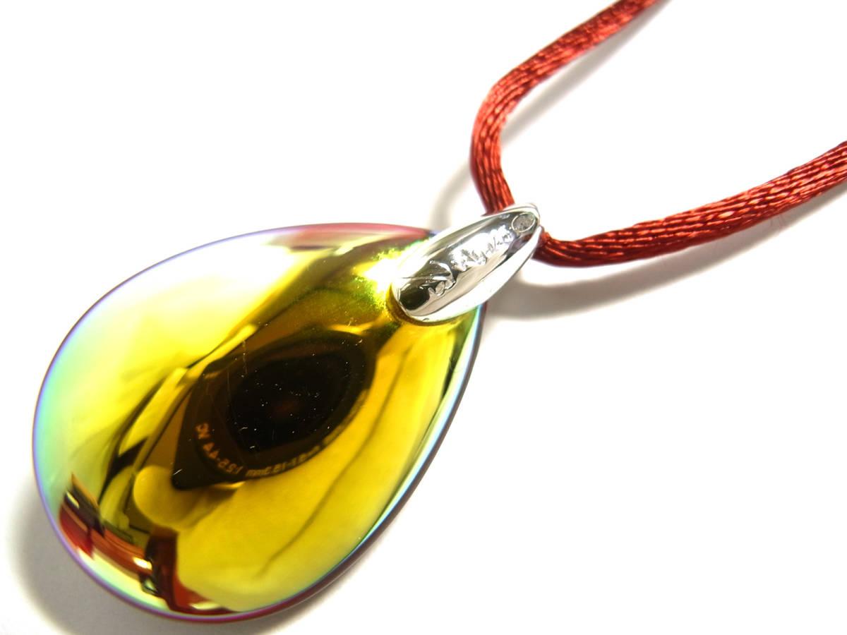 Baccarat バカラ ペンダント ネックレス チョーカー プシデリック イリゼルビー レッド 赤 クリスタルガラス シルバー オーロラ Sサイズ_画像5