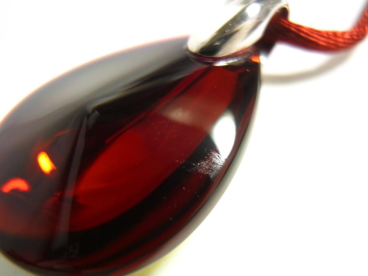 Baccarat バカラ ペンダント ネックレス チョーカー プシデリック イリゼルビー レッド 赤 クリスタルガラス シルバー オーロラ Sサイズ_画像3