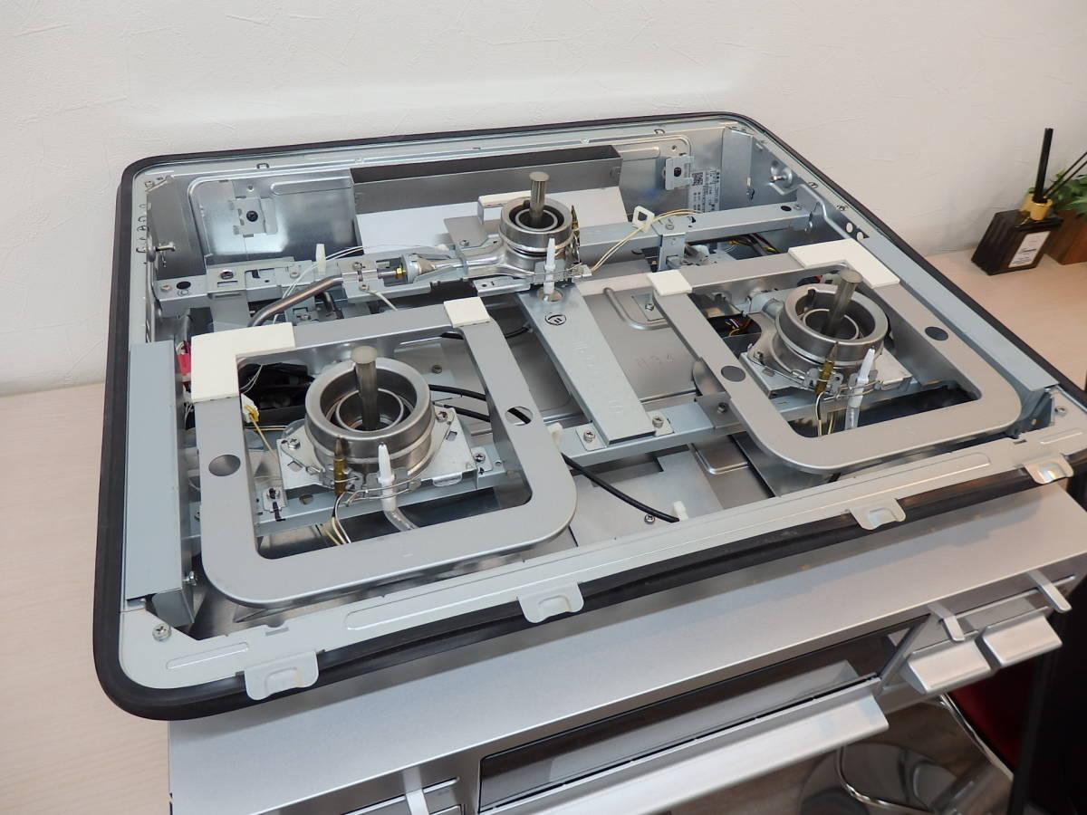 展示品 大阪発 直接引取り可 タカラスタンダード 都市ガス ビルトイン 3口ガスコンロ TN34V-60_画像5