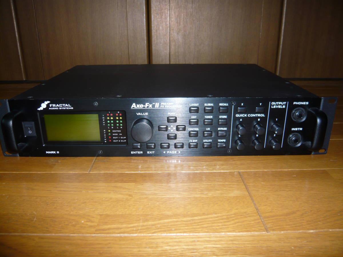 送料込み 中古 FRACTAL AUDIO SYSTEM Axe-FX II MarkII アンプシミュレーター フットペダルおまけ付き