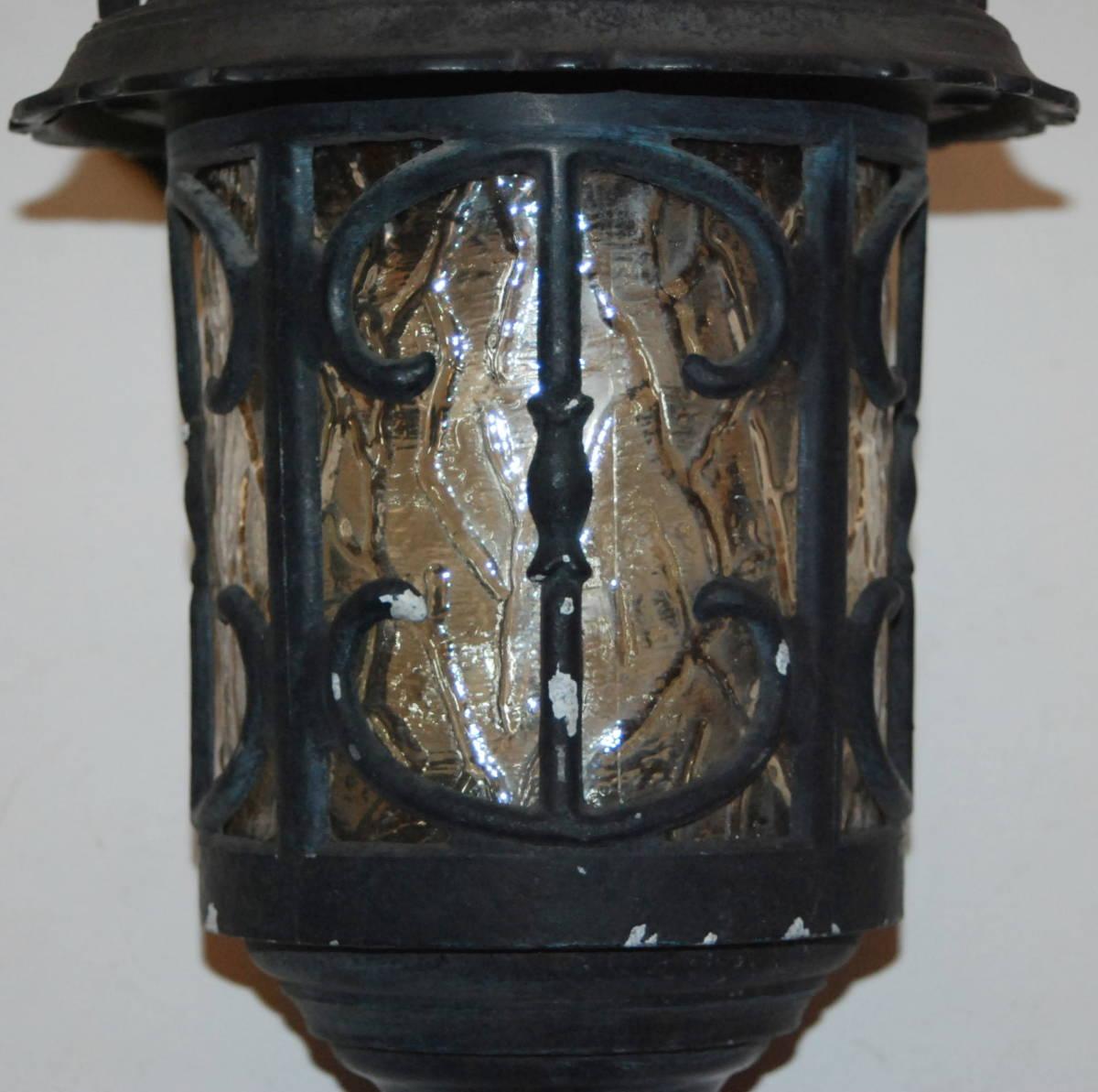 レトロ モダン アンティーク ウォールランプ ブラケットライト 色ガラス 照明 玄関 外灯 壁掛け 洋館_画像7