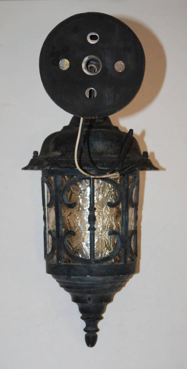 レトロ モダン アンティーク ウォールランプ ブラケットライト 色ガラス 照明 玄関 外灯 壁掛け 洋館_画像4