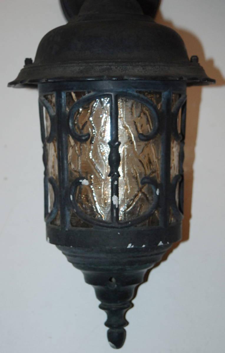 レトロ モダン アンティーク ウォールランプ ブラケットライト 色ガラス 照明 玄関 外灯 壁掛け 洋館_画像5