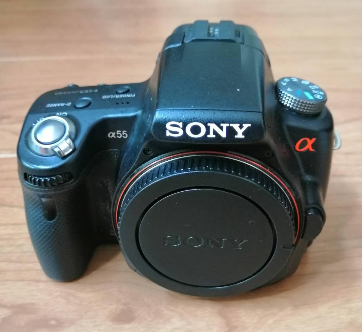 SONY α55本体【ジャンク品】、純正バッテリー、純正充電器_画像3