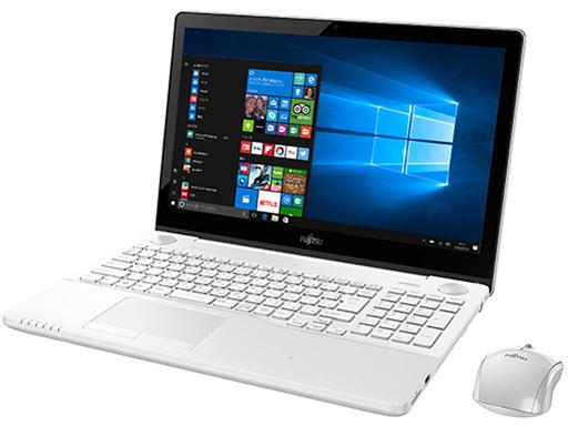【展示品】富士通(FUJITSU) FMV LIFEBOOK FMVA77B1W Core i7 7700HQ/HDD:1TB/8GB/Bluetooth/ブルーレ/15.6 インチ/Windows 10①