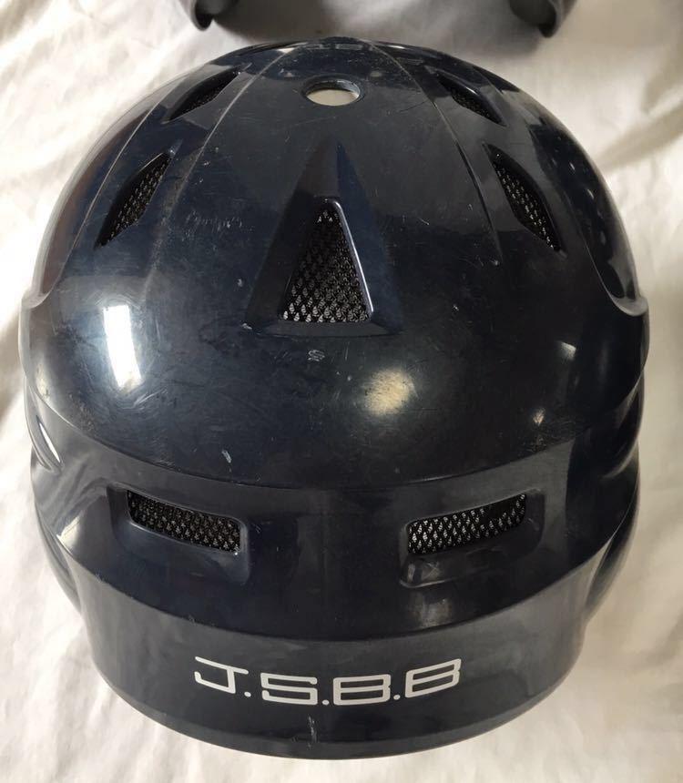 【4個セット】Rawlings ローリングス Mizuno ミズノ JSBB 軟式野球用打者ヘルメット L×1 O×2 XO×1 ネイビー 紺色 両耳 4個まとめて_画像5