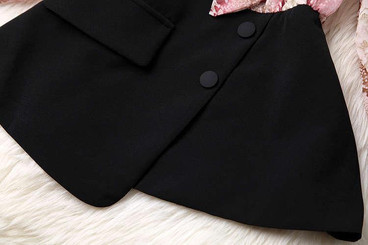 ★着痩せ2点セット★ リボン付きブラウス+着痩せズボン 夏セットアップ 長袖スーツ 気質良い ビジネス 通勤 ピンク+ブラック LYY190_画像9