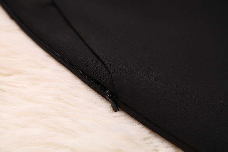★着痩せ2点セット★ リボン付きブラウス+着痩せズボン 夏セットアップ 長袖スーツ 気質良い ビジネス 通勤 ピンク+ブラック LYY190_画像5