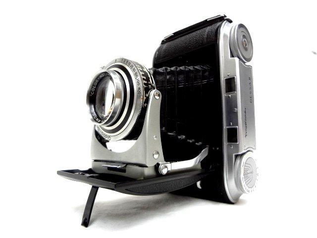 アンティークカメラ ■ Voigtlander フォクトレンダー 蛇腹式 中判カメラ COLOR-HELIAR 105mm/F3.5 BESSA Ⅱ ■