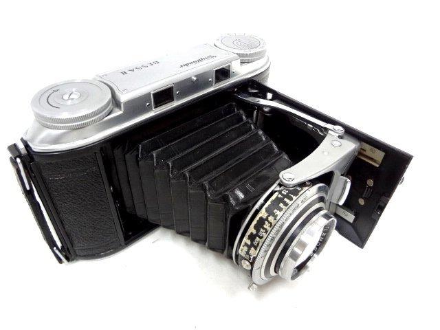 アンティークカメラ ■ Voigtlander フォクトレンダー 蛇腹式 中判カメラ COLOR-HELIAR 105mm/F3.5 BESSA Ⅱ ■_画像4