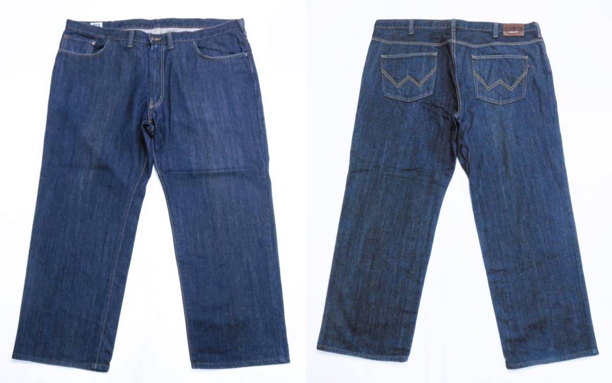 即決★極上美品★大人気 EDWINエドウイン 404 W46(116cm)濃紺 ストレートジーンズ INTERNATIONAL BASIC 日本製 ビッグサイズ メンズ_画像7