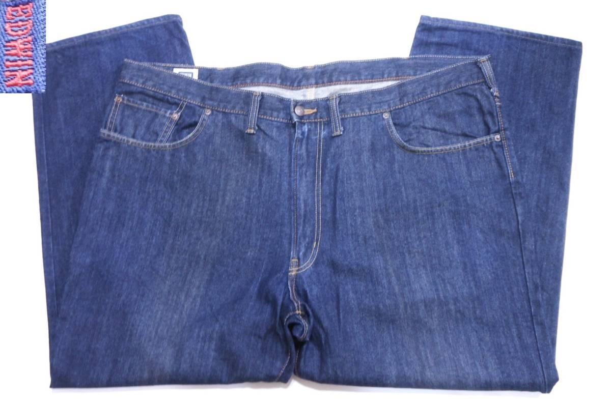即決★極上美品★大人気 EDWINエドウイン 404 W46(116cm)濃紺 ストレートジーンズ INTERNATIONAL BASIC 日本製 ビッグサイズ メンズ_画像6