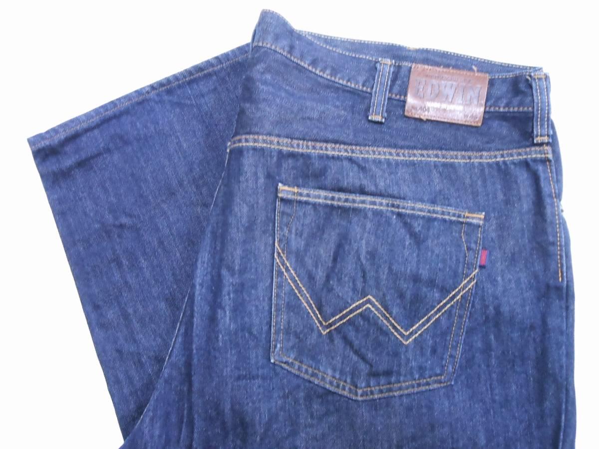 即決★極上美品★大人気 EDWINエドウイン 404 W46(116cm)濃紺 ストレートジーンズ INTERNATIONAL BASIC 日本製 ビッグサイズ メンズ_画像8