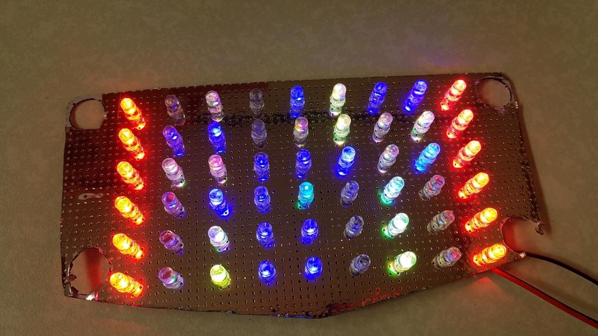 GSX400E GSX250E ザリ 流れるようなテールランプ くるくるテール 基盤 RGB レインボー _画像3