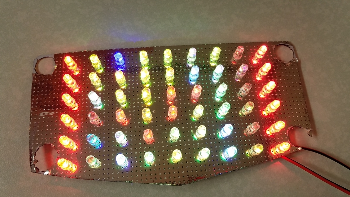 GSX400E GSX250E ザリ 流れるようなテールランプ くるくるテール 基盤 RGB レインボー _画像4