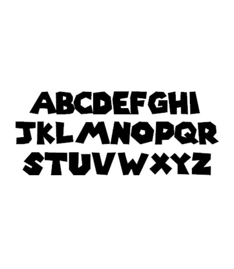 マリオ風書体でステッカー制作 スーパーマリオ風書体 ステッカー 色変更OK 車 バイク トラック インテリア ヘルメット デカール 防水_画像1