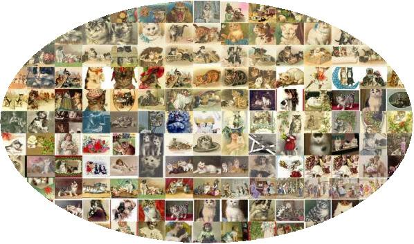 ビンテージ子猫ねこネコ/絵画像写真540素材大量動物イラスト福意味ワックスヘルメット英語家具マンションジーンズモトクロスワインアロハ_画像1