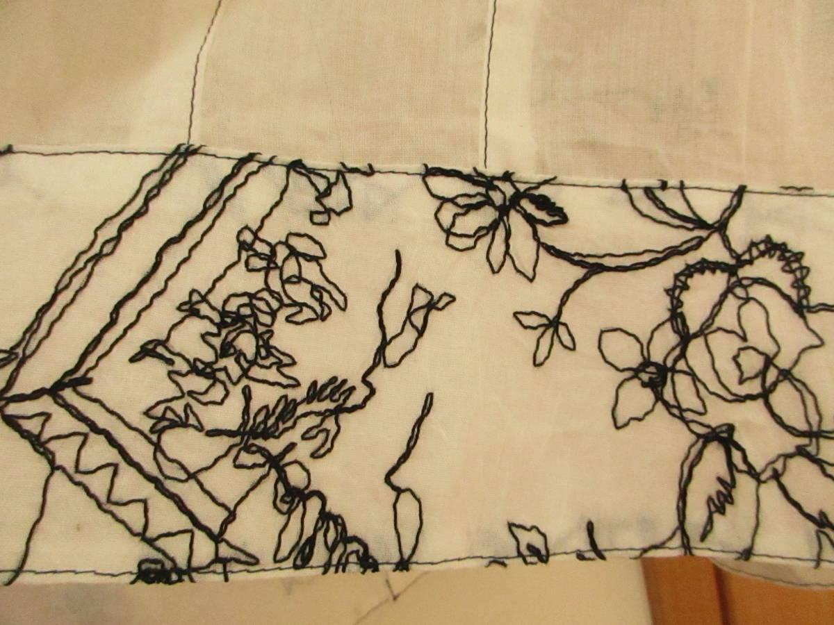 新品同様に綺麗★ジオン商事 Chamois シャミー 刺繍がお洒落です しわ加工 ブラウス ジャケット 日よけ、冷房よけ サイズ40_画像9