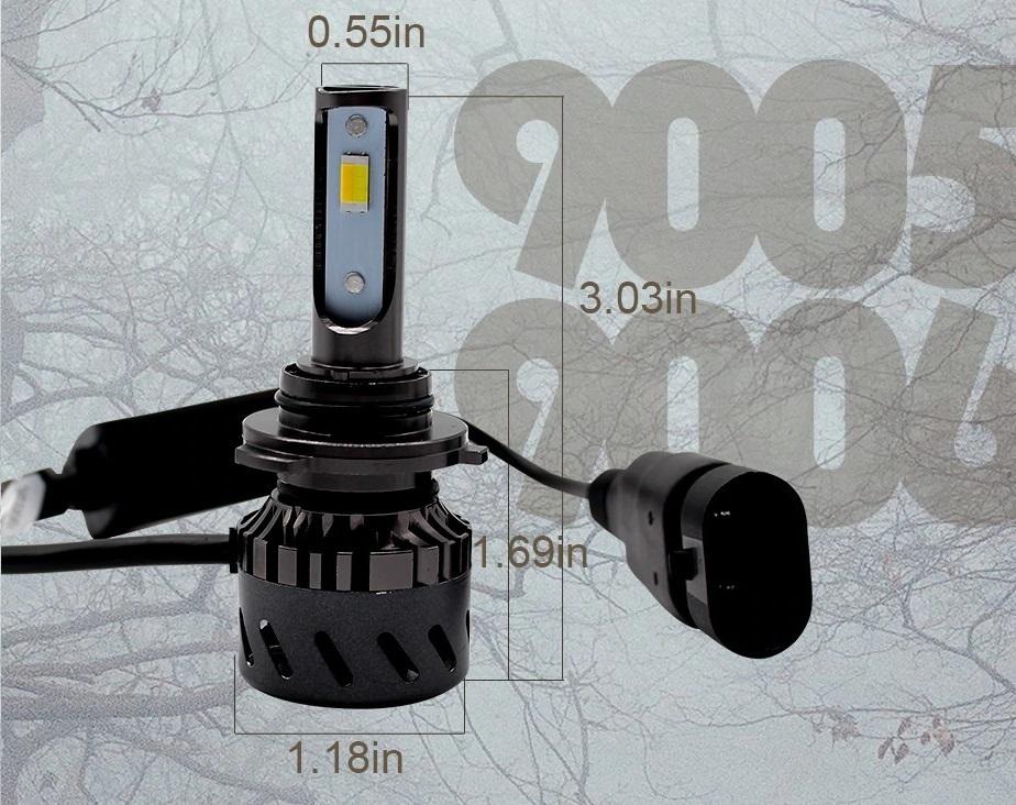 在庫限り 3色 カラーチェンジバルブ 6500k 3500k 4300k LED ヘッドライト LED フォグ H4 HI/LO H8 H9 H11 H16 HB3 HB4 30系 プリウス等_画像4